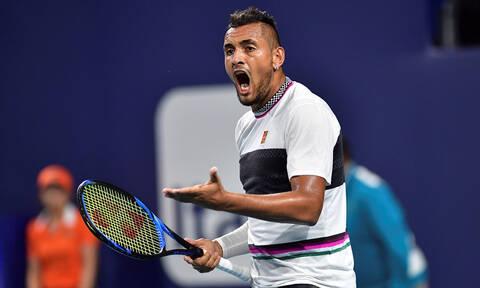 Κύργιος: Έξαλλος μετά την ήττα στο διπλό του Miami Open - Δείτε τι συνέβη (pics)