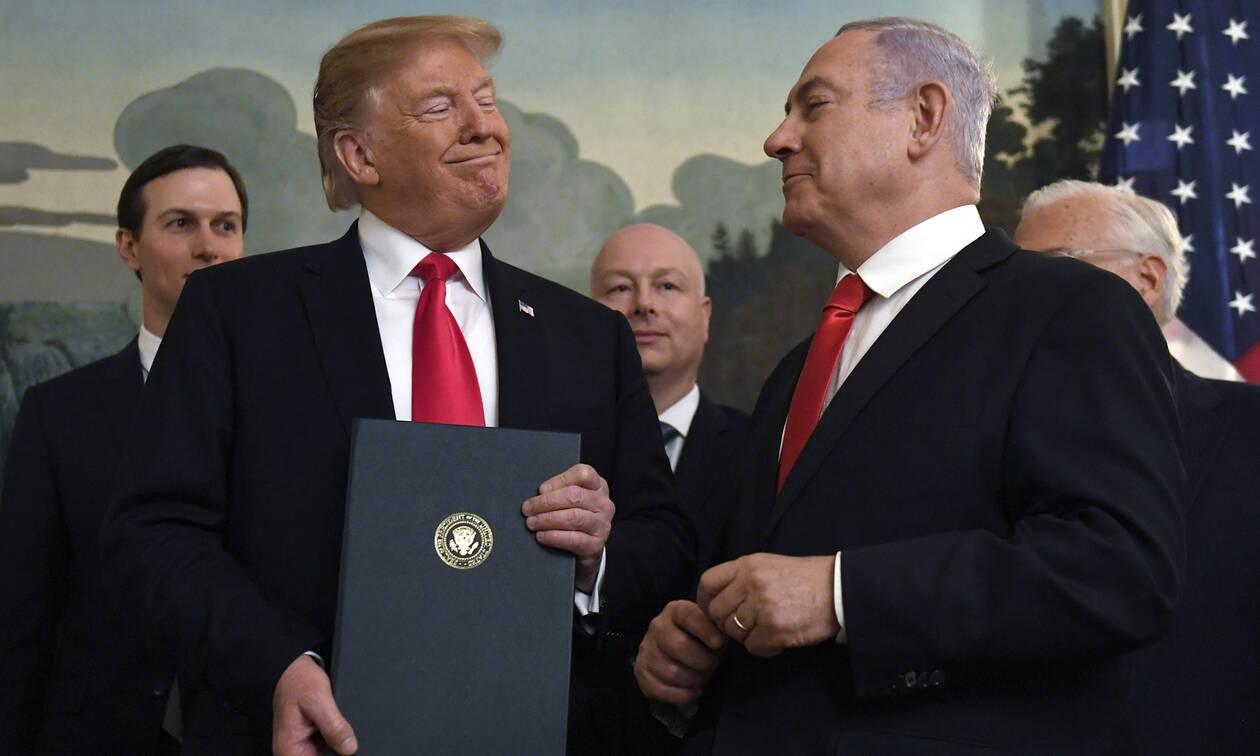 Υψίπεδα Γκολάν: O Τραμπ αναγνώρισε την ισραηλινή κυριαρχία – Εξοργισμένοι οι Τούρκοι