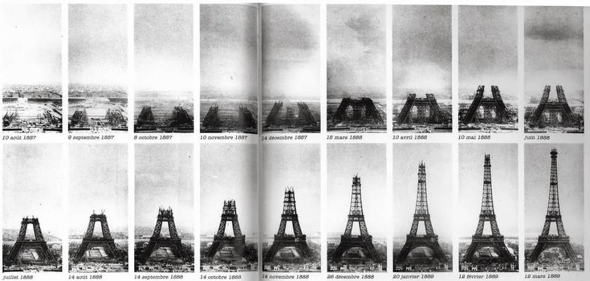 Σπάνιες φωτογραφίες: Έτσι φτιάχτηκε ο πύργος του Άιφελ