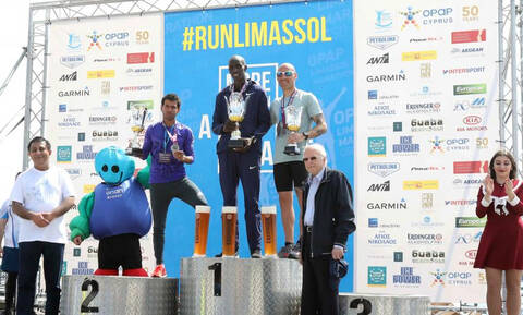 Марафон на Кипре закончился победой спортсмена из Кении