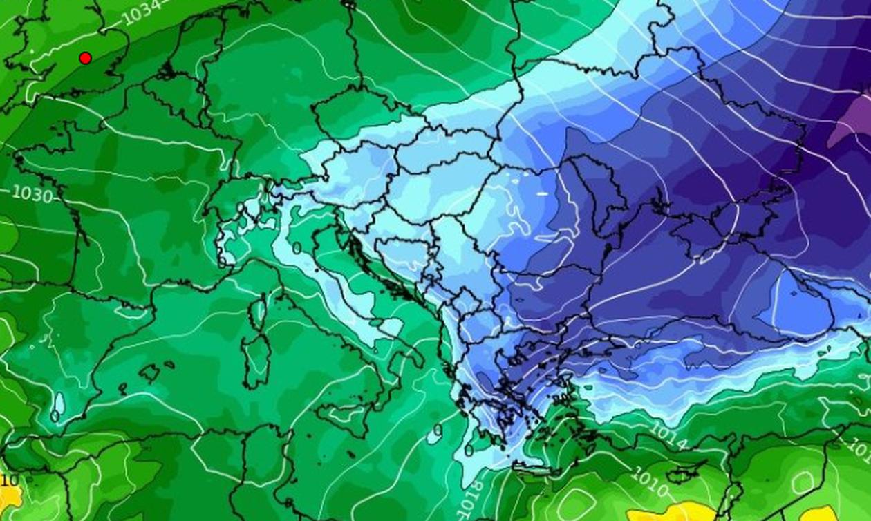 Καιρός: Καρέ - καρέ η κίνηση των ψυχρών αερίων μαζών τα επόμενα 24ωρα (video)