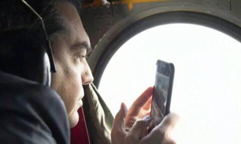 Νέο ντοκουμέντο: Ο Τσίπρας τραβούσε βίντεο την αερομαχία μέσα από το ελικόπτερο (vid)