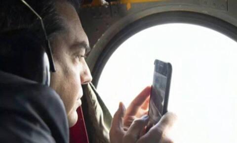 Ντοκουμέντο: Ο Τσίπρας τραβούσε βίντεο από το ελικόπτερο την αερομαχία με τους Τούρκους (pics+vid)