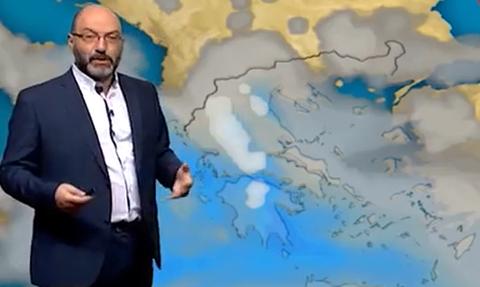 Καιρός: Η προειδοποίηση του Σάκη Αρναούτογλου για την ψυχρή εισβολή! Πού θα χιονίσει... (video)