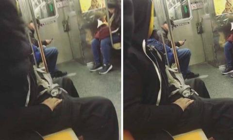 Σοκαρισμένη μητέρα βιντεοσκοπεί άστεγο άντρα την ώρα που αυνανιζόταν στο μετρό (video)