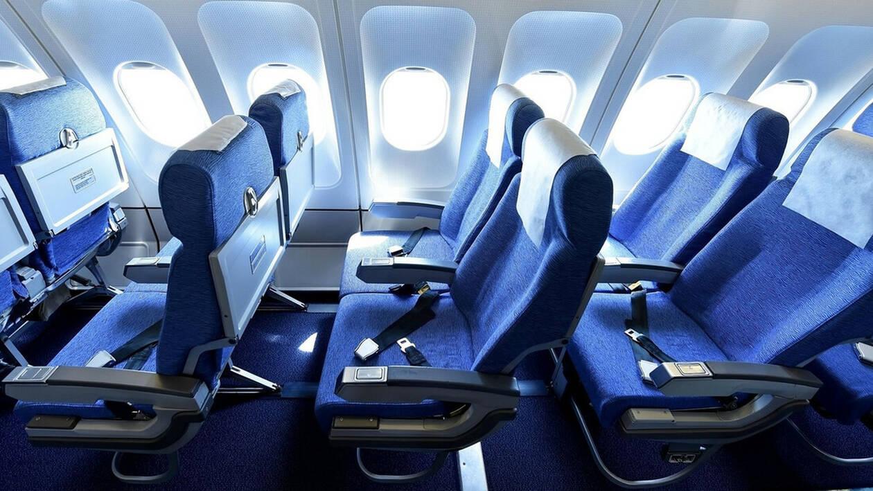 Ακούγεται απίστευτο: Υπάρχει λόγος που τα καθίσματα των αεροπλάνων έχουν μπλε χρώμα!