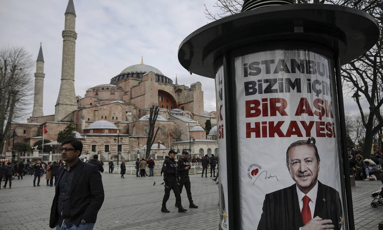 Επιμένει ο Ερντογάν: Η Αγιά Σοφιά θα γίνει τζαμί μετά τις εκλογές