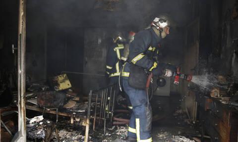 Χαλκιδική: Παρανάλωμα του πυρός μονοκατοικία (vid)