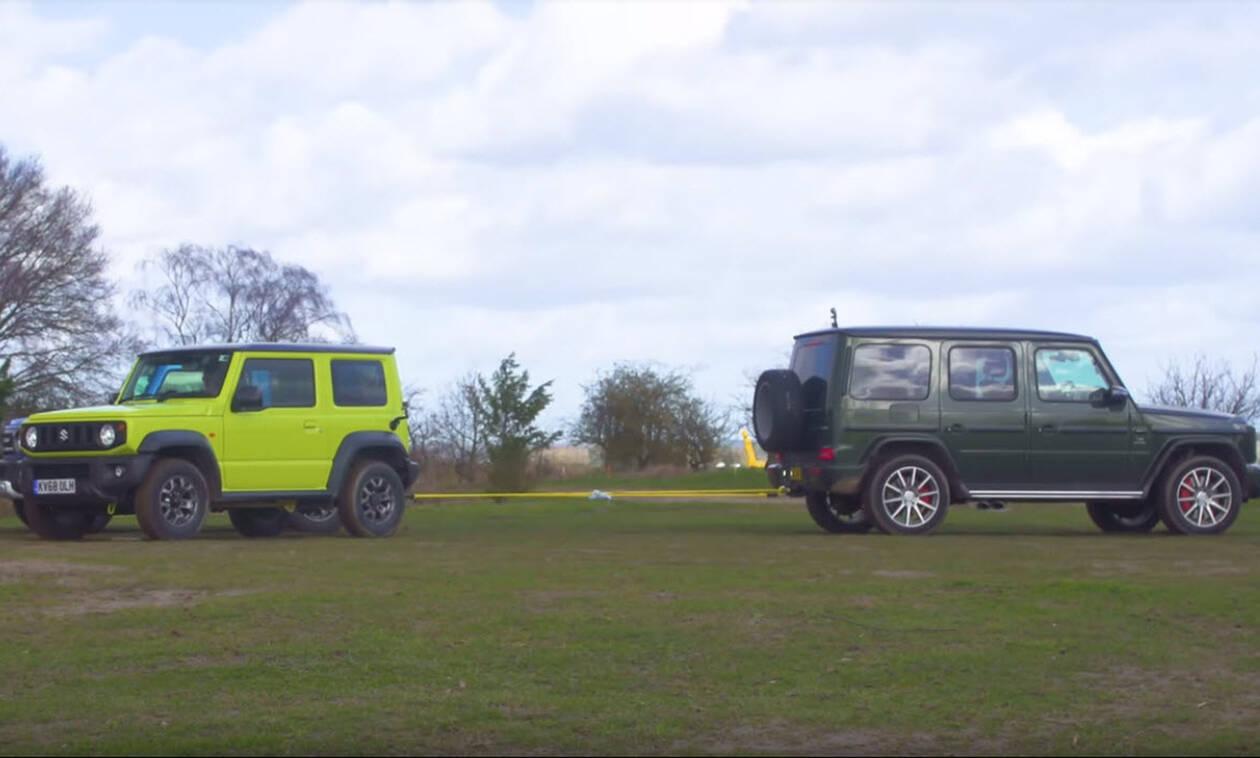 Suzuki Jimny εναντίον Mercedes-AMG G 63: H «κόντρα» της χρονιάς! (Video)