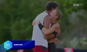 Survivor: Αγκαλιασμένοι μετά το αγώνισμα Δαλάκα - Ατακάν: Έρχονται πιο κοντά οι παίκτες