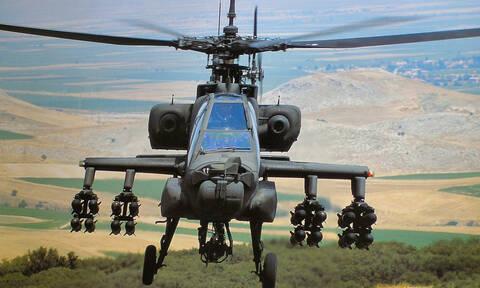 Αναγκαστική προσγείωση ελικοπτέρου «Apache» στα Φάρσαλα