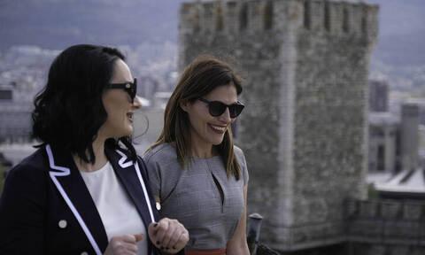 Η βόλτα της Μπέττυς Μπαζιάνα με τη Ζορίτσα Ζάεβα στα Σκόπια (pics)