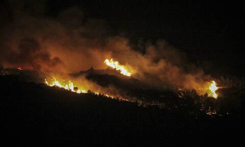 Φωτιά στην Ηλεία: Αναζωπύρωση στο Κουνουπέλι - Ολονύχτια μάχη με τις φλόγες (pics&vid)