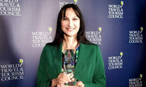 Έλενα Κουντουρά: Βραβεύτηκε με το «Global Champion 2019» για το έργο της στον τουρισμό