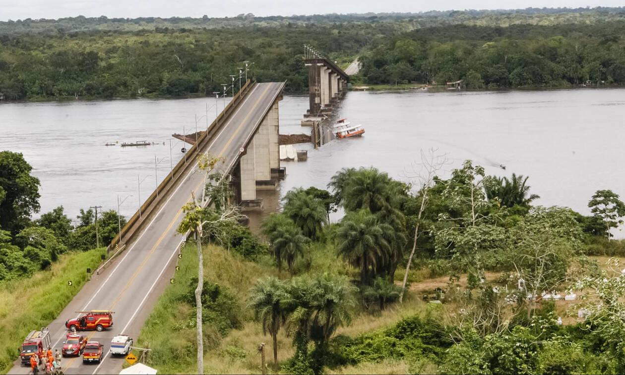 Κατάρρευση γέφυρας μετά από πρόσκρουση πλοίου - Συγκλονιστικές εικόνες