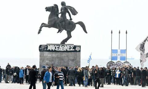 Στους δρόμους ο κόσμος του ΠΑΟΚ: «Μακεδονία γη ελληνική»! (photos)
