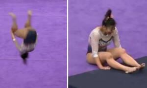 Video - σοκ: Αθλήτρια της ρυθμικής σπάει και τα δυο της πόδια σε προσγείωση (ΣΚΛΗΡΕΣ ΕΙΚΟΝΕΣ)