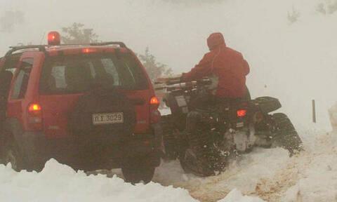Διακοπή κυκλοφορίας προς το Καϊμάκτσαλαν λόγω χιονόπτωσης