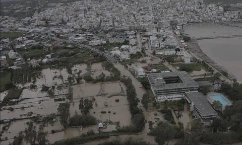 Κρήτη: Ζημιές εκατομμυρίων ευρώ από την θεομηνία που «χτύπησε» το νησί
