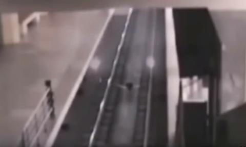 Τρένο - φάντασμα εμφανίστηκε από το πουθενά και προκάλεσε πανικό! (video)