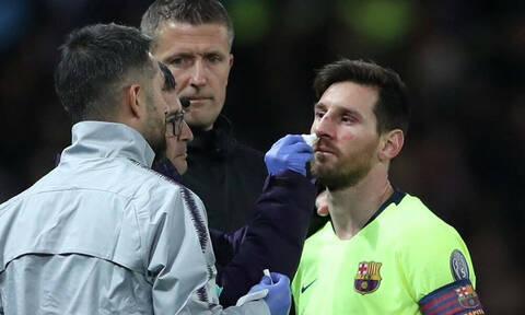 Champions League: Το άσχημο χτύπημα που μάτωσε τον Λιονέλ Μέσι!
