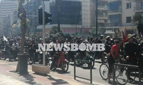 Απεργούν οι διανομείς: Πορεία διαμαρτυρίας και κυκλοφοριακό χάος στο κέντρο (pics&vids)