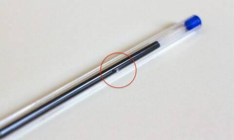 Γιατί τα στυλό έχουν μια μικρή τρύπα στο εξωτερικό τους;