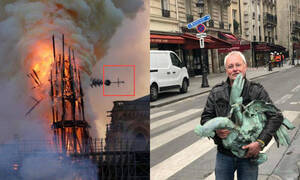 Παναγία των Παρισίων: «Θαύμα» στις στάχτες - Εντοπίστηκε ο κόκορας του κωδωνοστασίου (pics)