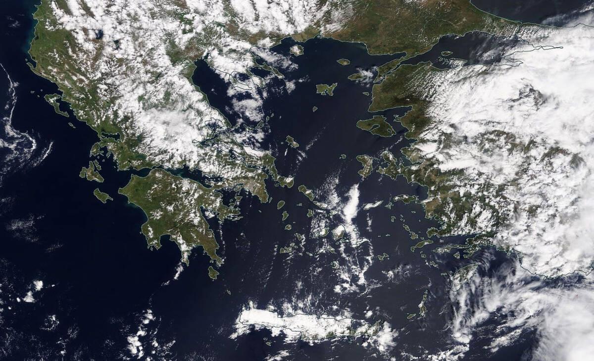 Δείτε την τελευταία δορυφορική εικόνα της Ελλάδας, μέσα από το worldview της NASA