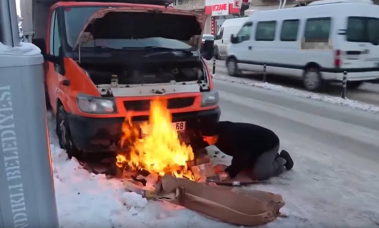 Δείτε έναν τρόπο να πάρει μπροστά ένα diesel όταν η θερμοκρασία είναι χαμηλή