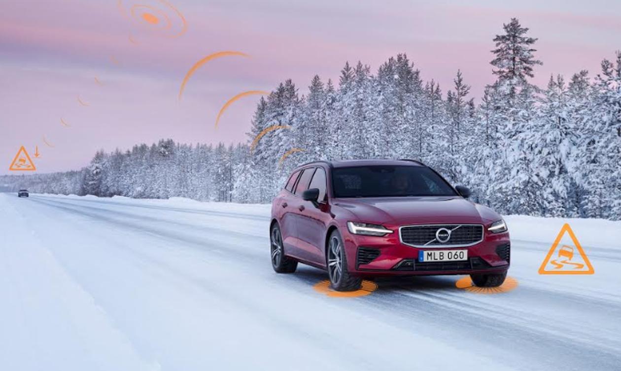 Πρωτιά Volvo:Τα μοντέλα της προειδοποιούν για ολισθηρούς δρόμους και οδικούς κινδύνους