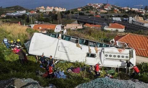 Πορτογαλία: Συγκλονίζει το βίντεο από τη στιγμή της πτώσης του λεωφορείου σε χαράδρα
