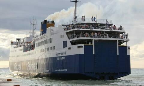 Ηράκλειο: Επέστρεψε το Superferry II λόγω βλάβης