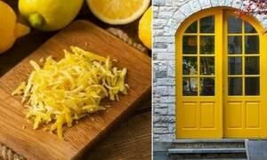Βάζει φλούδες λεμονιού έξω από την πόρτα του σπιτιού - Δες γιατί!