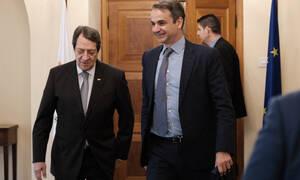 ND leader Mitsotakis met with Cyprus President Anastasiades