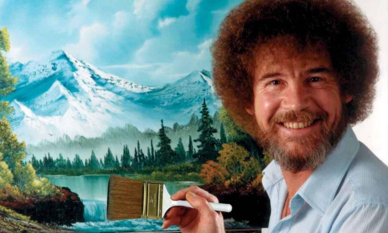 Ρετρό -  Bob Ross: Ο αγαπημένος τηλεοπτικός ζωγράφος των παιδικών μας χρόνων (vid & pics)