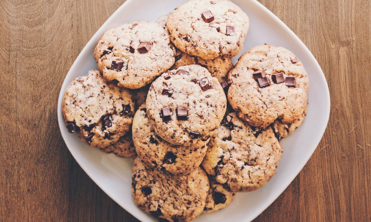 Cookies με βρώμη και κομμάτια σοκολάτας