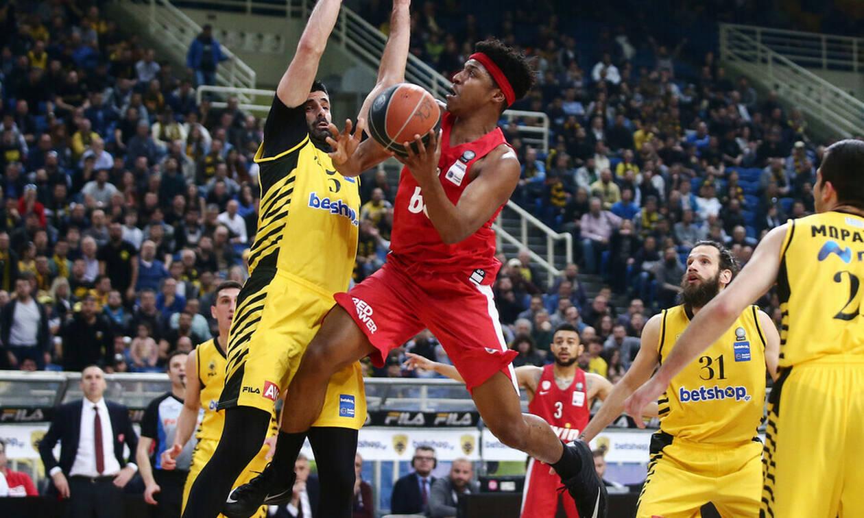 ΑΕΚ-Ολυμπιακός 67-76: Με διαφορά... ύψους και βολών!