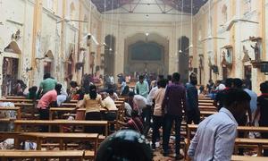 Σρι Λάνκα: Συντρίμμια και φρίκη - Σοκαριστικό video από τη στιγμή της έκρηξης