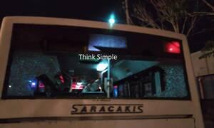 Τρόμος στην Θεσσαλονίκη: Επιτέθηκαν με πέτρες σε λεωφορείο του ΟΑΣΘ