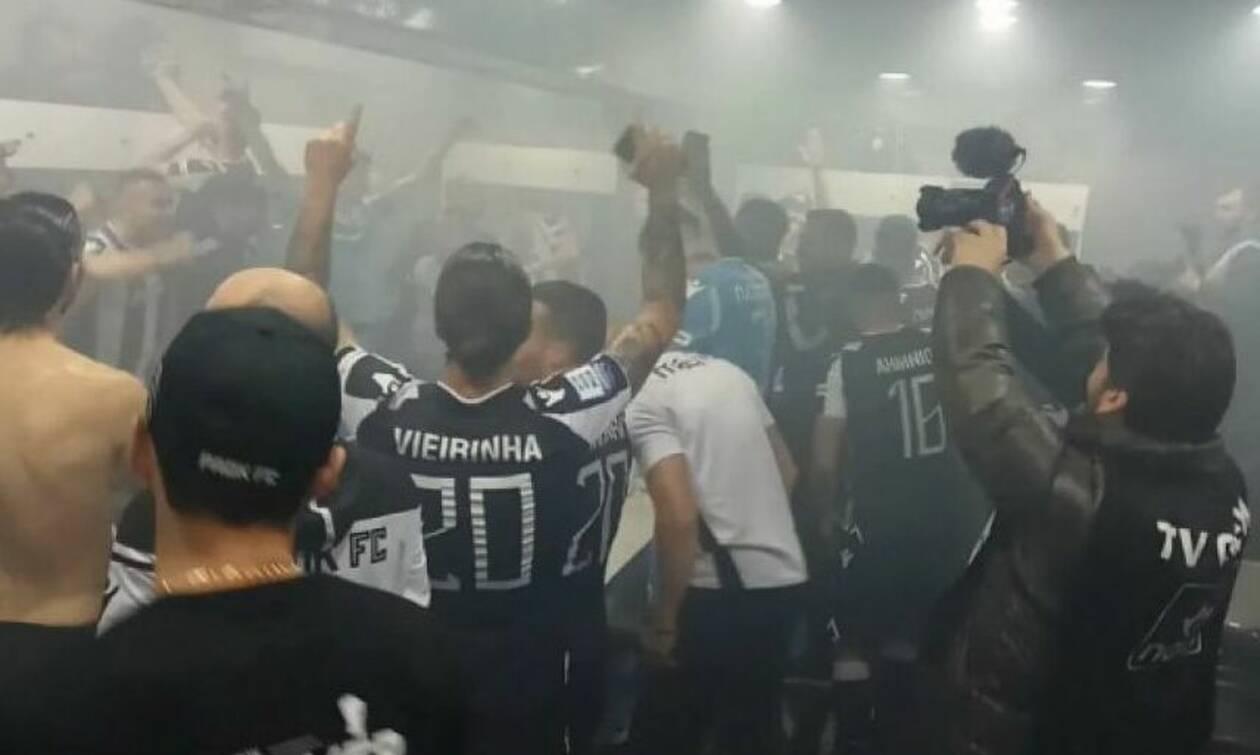 ΠΑΟΚ: Ξέφρενα πανηγύρια των παιχτών στα αποδυτήρια (video)