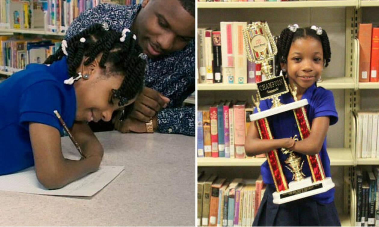Μάθημα ζωής: Επτάχρονη χωρίς χέρια, κέρδισε σε διαγωνισμό καλλιγραφίας! (photos)