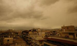 Καιρός τώρα: Σε κλοιό αφρικανικής σκόνης η χώρα τη Μεγάλη Τετάρτη (pics)