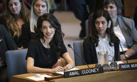Amal Clooney: Η εμφάνισή της στα Ηνωμένα Έθνη