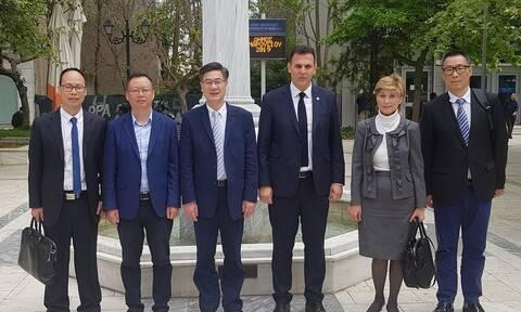 Κινέζους αξιωματούχους υποδέχτηκε ο Γιώργος Καραμέρος και το #Ενωμένο Μαρούσι