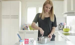 Η Μαρία Λουίζα Βούρου μαγειρεύει energy balls με χαλβά Όλυμπος Βανίλια
