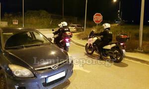 Λαμία: Τούμπαρε με το αυτοκίνητο στην είσοδο της πόλης - «Εξαφανίστηκε» ο οδηγός (pics)