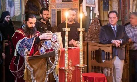 Στην Ιερά Μονή Σίμωνος Πέτρα ο πολιτικός διοικητής του Αγίου Όρους για την Ακολουθία των Παθών