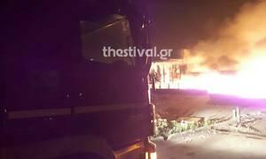 Θεσσαλονίκη: Υπό έλεγχο η πυρκαγιά σε εργοστάσιο ανακύκλωσης στη Σίνδο (pics&vid)