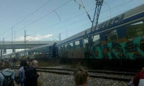 Εκτροχιάστηκαν βαγόνια Intercity μετά το Παλαιοφάρσαλο